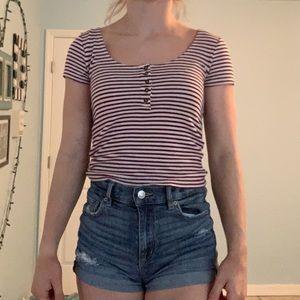 stripped button shirt